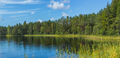 Panoramic view of beautiful forest lake in Russia. - PhotoDune Item for Sale