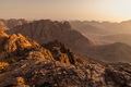 View from Mount Sinai at sunrise. Beautiful mountain landscape in Egypt - PhotoDune Item for Sale