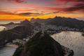 Beautiful panorama of Rio de Janeiro at twilight, Brazil. Corcovado - PhotoDune Item for Sale