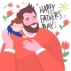 Happy Father's Day Lettering and Happy Dad - GraphicRiver Item for Sale