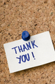 Thank you sticker note - PhotoDune Item for Sale