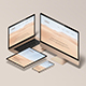 Isometric Responsive Screen Device - Mockup - GraphicRiver Item for Sale