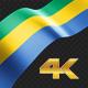 Long Flag Gabon - VideoHive Item for Sale