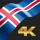 Long Flag Iceland - VideoHive Item for Sale