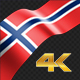 Long Flag Norway - VideoHive Item for Sale