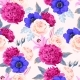 Vector Seamless Pattern with High Detailed Flowers - GraphicRiver Item for Sale