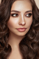 Smiling beautiful woman with long curly hair - PhotoDune Item for Sale