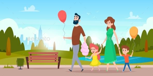 Family Park Walking