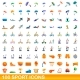 100 Sport Icons Set Cartoon Style - GraphicRiver Item for Sale