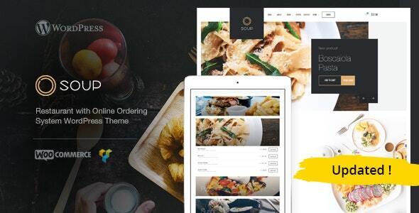 Soup - Online Food & Restaurant WP Theme