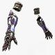 Elf Female Hand Armor Set - 3DOcean Item for Sale
