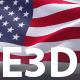 Waving Flag 3D Scenes for Element 3D & Cinema 4D - 3DOcean Item for Sale