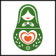 Matryoshka Love Logo Template - GraphicRiver Item for Sale