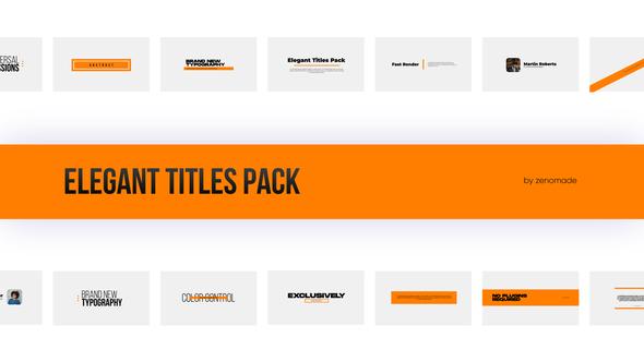 Elegant Titles Pack