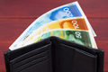 Banknotes from Israel in a black wallet - PhotoDune Item for Sale