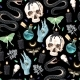 Seamless Magic Pattern with Supply for Witchcraft - GraphicRiver Item for Sale