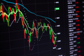 Stock charts on the monitor close up. Finance and stock exchange concept - PhotoDune Item for Sale