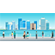 Cityscape by the sea - GraphicRiver Item for Sale