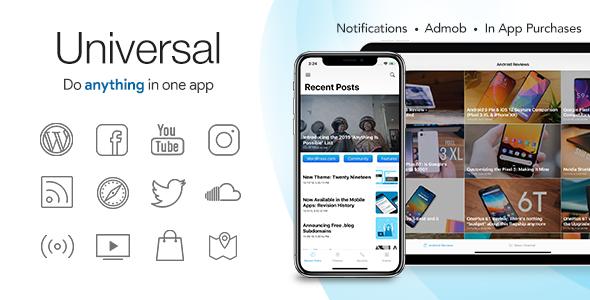 Universal for IOS - Pełna, wielofunkcyjna aplikacja IOS