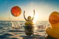 Happy child having fun on summer vacation - PhotoDune Item for Sale