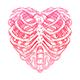 Skeleton heart shape - GraphicRiver Item for Sale
