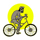 Zombie Bicycle - GraphicRiver Item for Sale