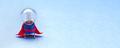 Super light bulb hero, classic red blue costume. - PhotoDune Item for Sale