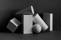 Abstract geometrical objects still life composition. - PhotoDune Item for Sale