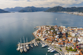 Aerial view of Marmaris at sunset, Turkey. View of the fortress and ships - PhotoDune Item for Sale