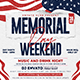 Memorial Day Weekend Flyer - GraphicRiver Item for Sale
