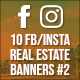 10 Facebook & Instagram Real Estate Banners - GraphicRiver Item for Sale