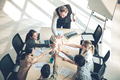 Success of group business people with join hands of teamwork. - PhotoDune Item for Sale