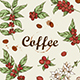 Vintage Coffee Beans and Coffee Plant - GraphicRiver Item for Sale