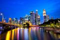 Singapore city at dusk - PhotoDune Item for Sale