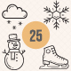 Snow and Winter icons - GraphicRiver Item for Sale