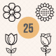 Flowers and Spring icons - GraphicRiver Item for Sale