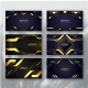 Golden luxury background template with geometric shapes - GraphicRiver Item for Sale