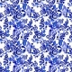 Blue Floral Seamless Pattern in Russian Gzhel - GraphicRiver Item for Sale