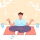 Man in Lotus Position Doing Yoga Meditation - GraphicRiver Item for Sale