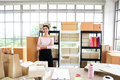 Woman with success the exporting business or online sales. - PhotoDune Item for Sale