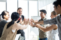 Group business people with join hands of teamwork. - PhotoDune Item for Sale