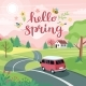 Spring Road Trip - GraphicRiver Item for Sale
