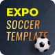 Expo2022   Exclusive Soccer Sports Portal Figma Web Template - ThemeForest Item for Sale