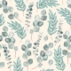 Vector Seamless Pattern with Branch of Eucalyptus - GraphicRiver Item for Sale
