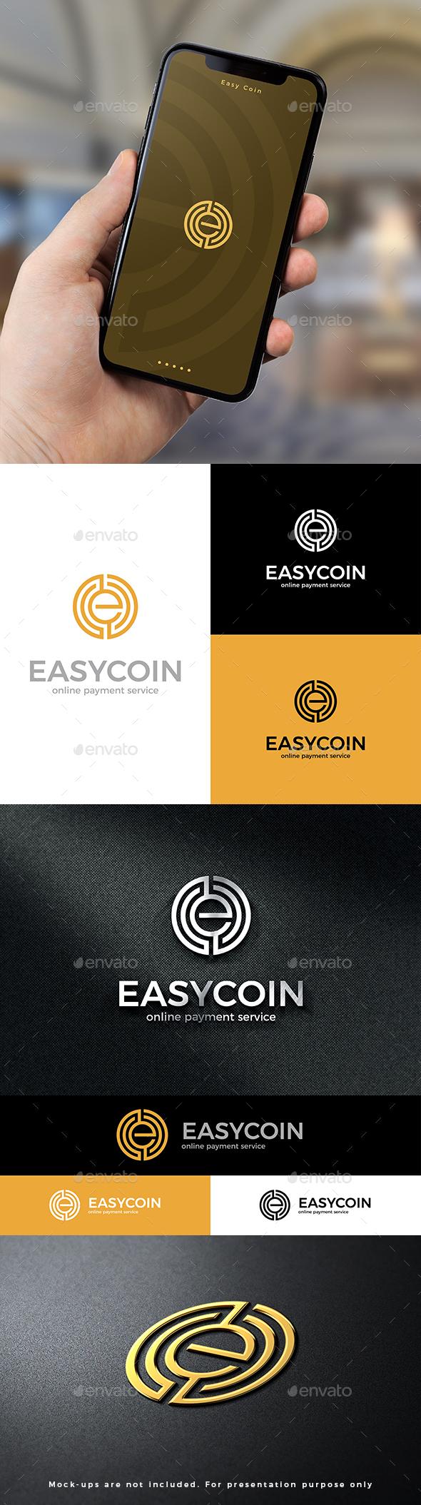 Easy Coin Logo E Letter