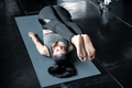 Asian woman playing yoga in the gym. - PhotoDune Item for Sale