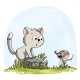 Mouse Scolds A Cat - GraphicRiver Item for Sale