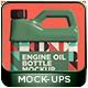 Engine Oil Bottle Mockup Pack 002 - GraphicRiver Item for Sale