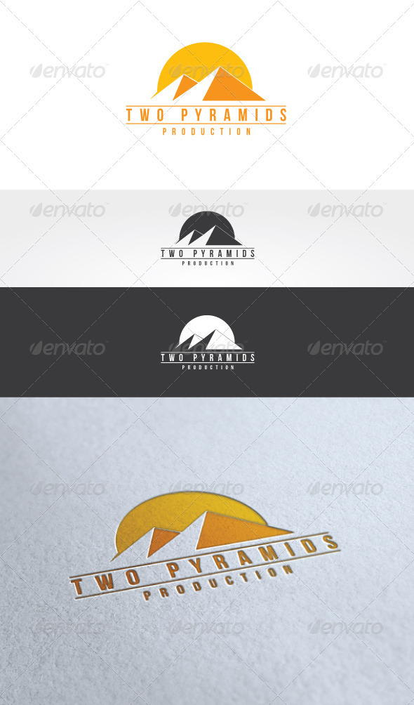 Two Pyramids Logo Template