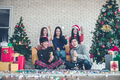 Group young with celebrating Christmas. - PhotoDune Item for Sale